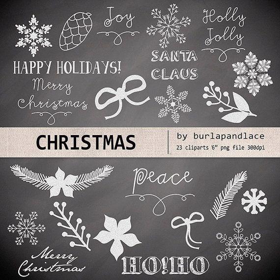 chalkboard+art+winter | Clipart christmas chalkboard, christmas clipart, winter clipart, cone ...