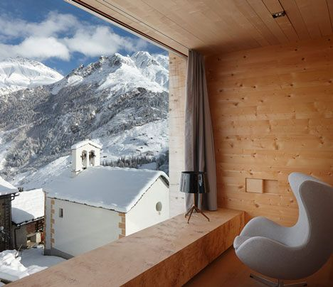 Timber vacation home in Vals by Peter Zumthor