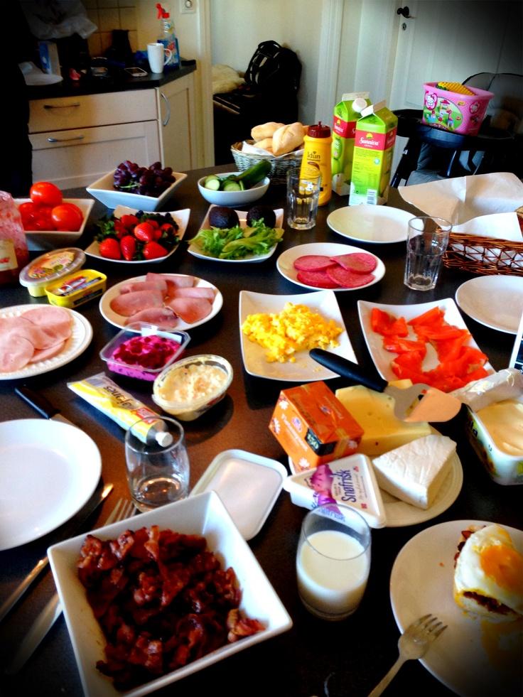 En vanlig lunsj hos verdens beste mamma❤
