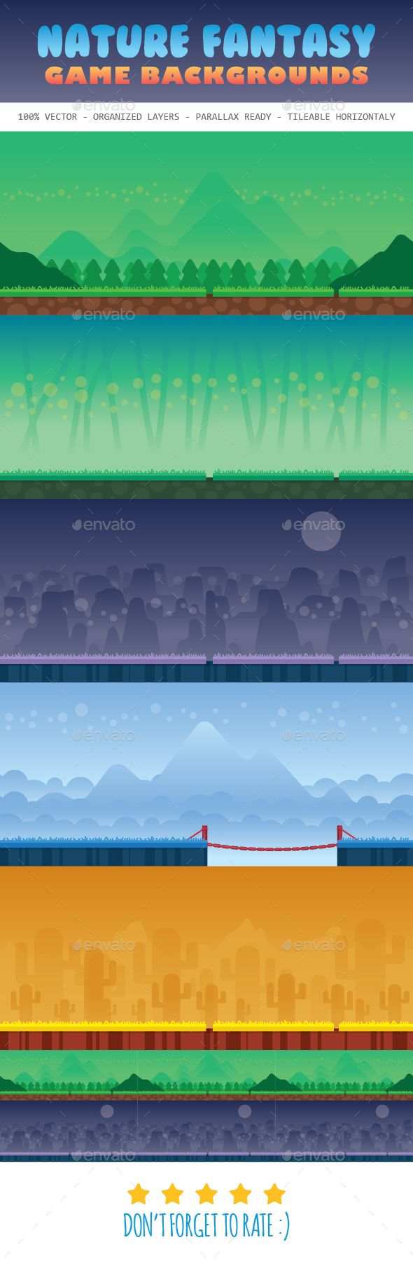 Nature Fantasy Game Background