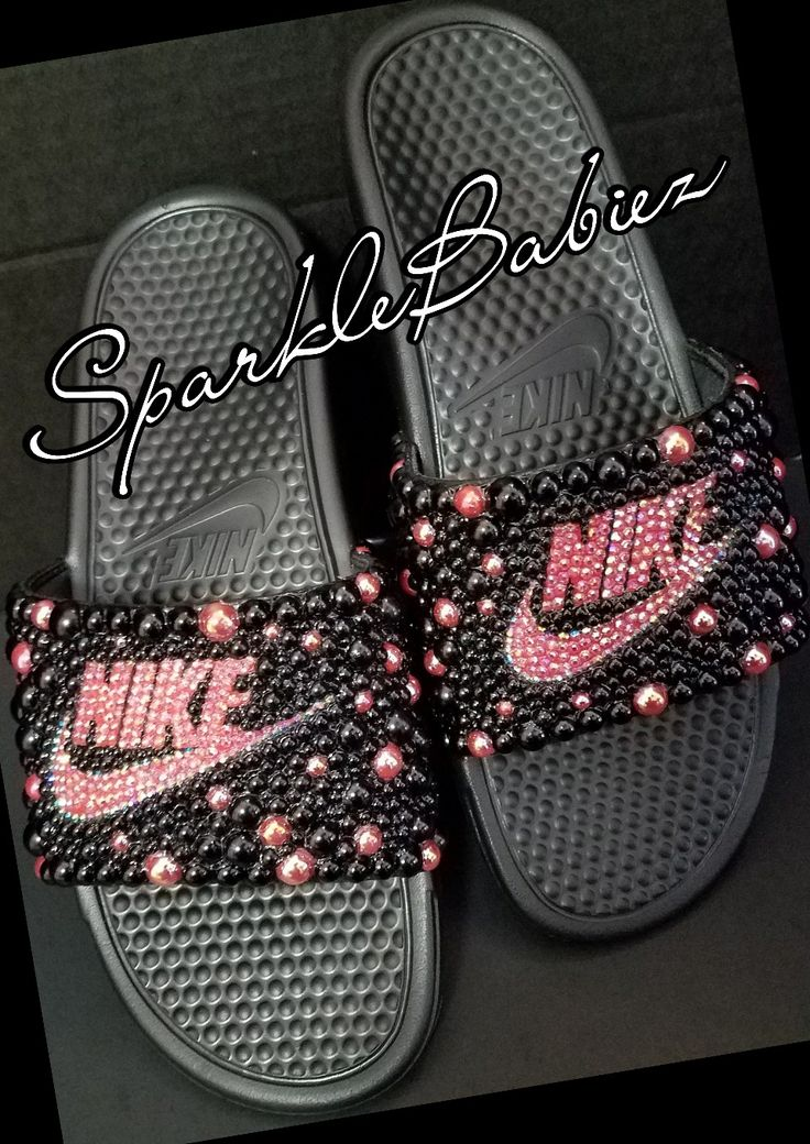 Custom Bling Nike Slides