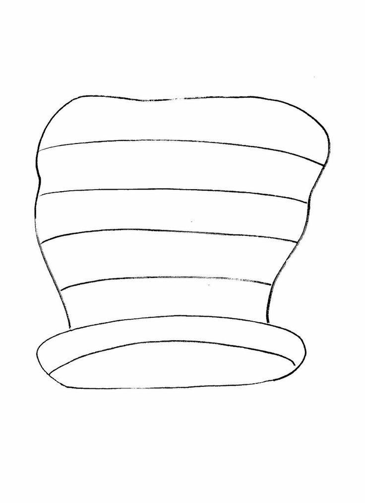 cat in the hat ; hat outline | 100 Days / Dr. Seuss | Pinterest