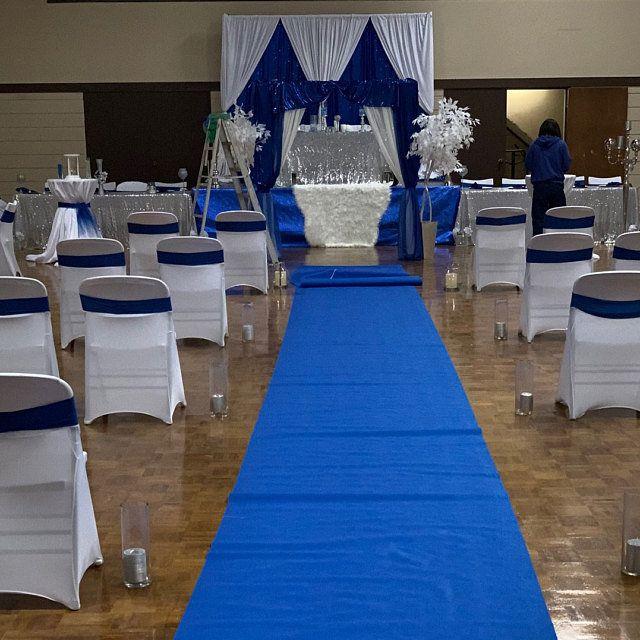 Royal Blue Aisle Runner Aisle Runner Wedding Wedding Ceremony