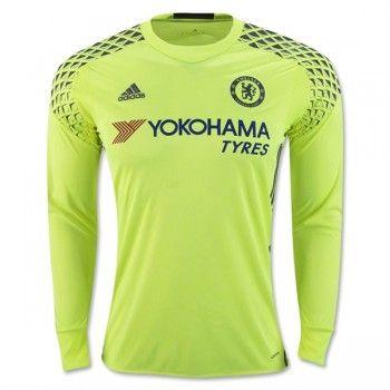 Chelsea 16-17 Målvakt Hemmatröja Långärmad  #Fotbollströjor