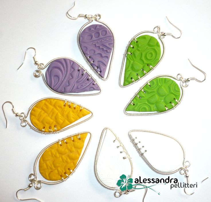 Polymer clay and wire wrapping