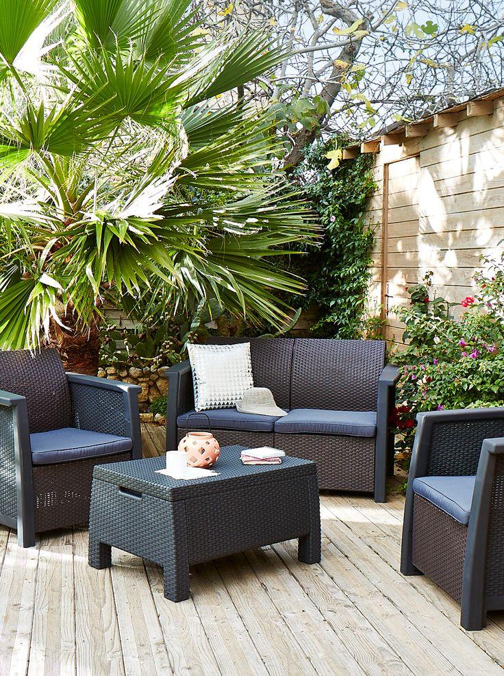 Salon de jardin DENVER - Alinéa - Jeu concours Pinterest - A gagner : 500€ en bons d'achat ! Jouez sur : https://www.pinterest.com/alinea/jeu-en-exterieur/