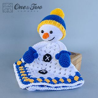 Snowman Lovey Security Blanket $3.99