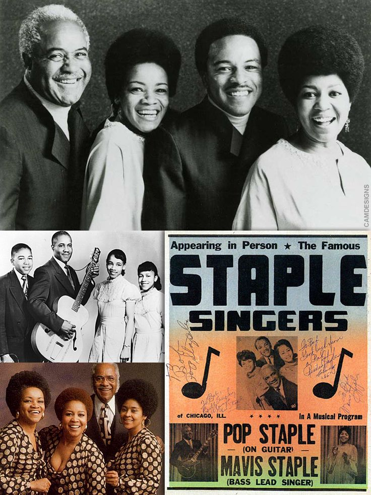 "Roebuck ""Pops"" Staples (Dec. 28, 1914 – Dec. 19, 2000) was an American gospel and R&B musician. A pivotal figure in gospel in the 1960s & 70s, he was a songwriter, guitarist & singer. He was the patriarch and member of The Staple Singers, which included his son Pervis and daughters Mavis, Yvonne, and Cleotha. In 1998 he received a National Heritage Fellowship from the National Endowment for the Arts, and in 1999 the Staple Singers were inducted into the Rock & Roll Hall of Fame."