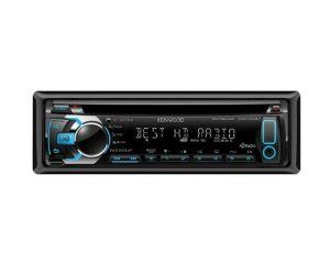 Kenwood KDC-X497 eXcelon Single DIN In-Dash Car Stereo Receiver with HD Radio by Kenwood. $149.99. With built-in HD Radio, the KDC-X497 gives the user all of the features and audio performance of HD Radio right out of the box with no subscription required.Users can enjoy HD Radio-specific programming (where available), and iTunes Tagging is made easy by pressing a dedicated button near the volume control.A 13-digit full-dot display shows scrolling text from the HD Radio...