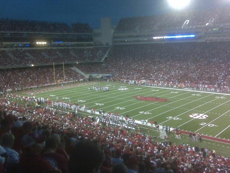 Arkansas College football, Football stadiums, Arkansas