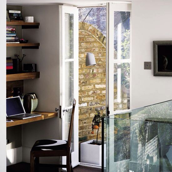 French doors in study
