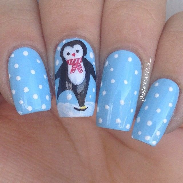 Penguin Nail Art Designs: +1000 Ideias Sobre Nail Art De Pinguim No Pinterest