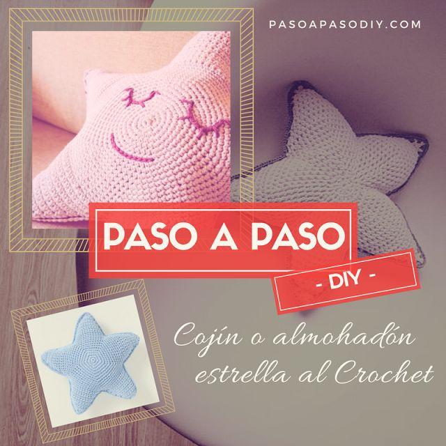 Cojín o almohadón en forma de estrella - DIY | Paso a Paso