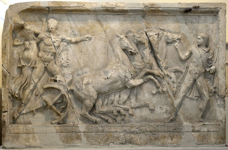 Abduction of Iole. Marble. Neo-Attic relief panel. Mid-2nd cent. CE. Inv. No. 2120. Athens, Archaeological Museum of Piraeus.