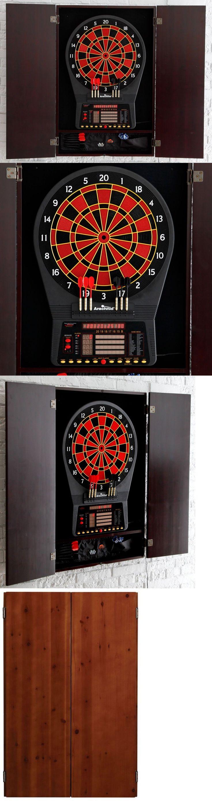 Dart Boards 72576: Electronic Dartboard Arachnid Cabinet Set Wall Protector, Darts, Scoreboard Wood -> BUY IT NOW ONLY: $297.95 on eBay!