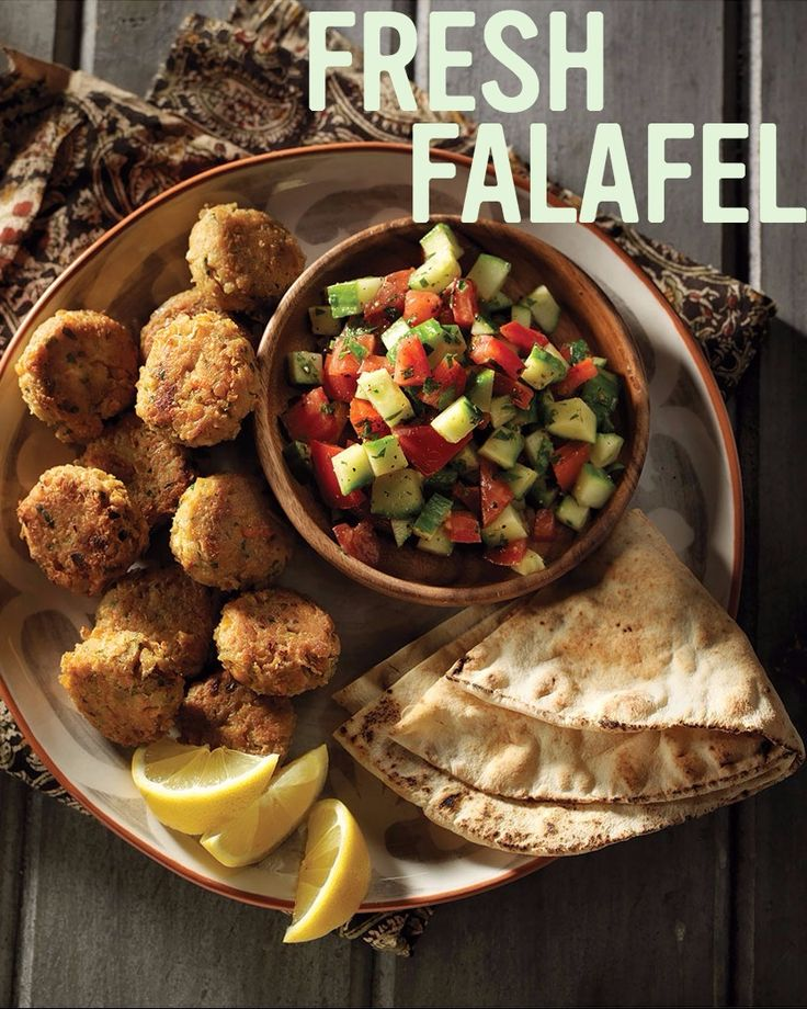 Homemade Falafel With Middle Eastern Chopped Salad #recipe.