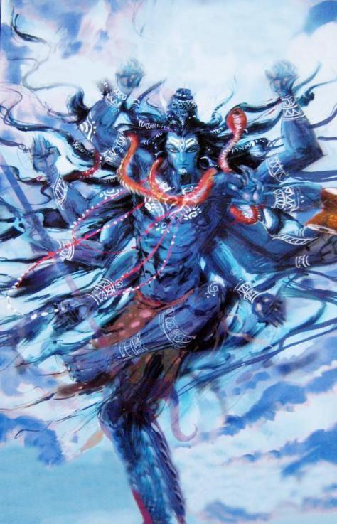 Shiva (o radiante): Deus da renovação para alguns (orientais); deus da destruição para outros (ocidentais).