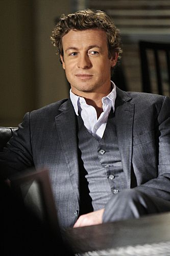 "Simon Baker stars as Patrick Jane on The Mentalist from the episode ""The Red Box""."