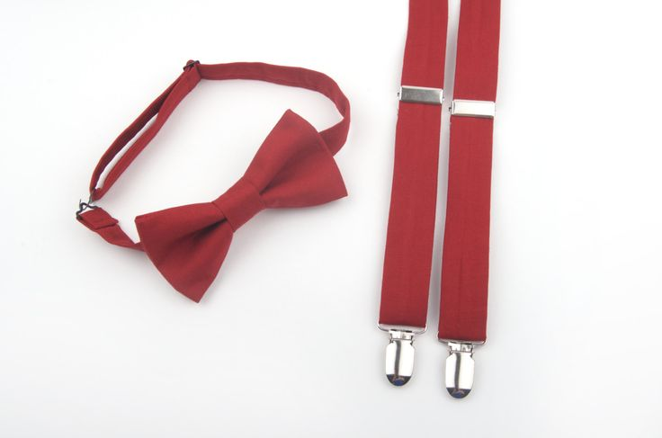 Marsala Bow Tie and Suspenders set, wine bow tie, wine suspenders, marsala bow tie, marsala suspenders, men's suspenders, marsala wedding by DapperGent on Etsy