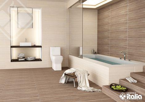 Los diseños de baño inspirados en la madera no tienen porque ser rústicos; en nuestras maderas tambien puedes encontrarlas con cortes finos y textura única que logran un baño acogedor y moderno. #ElBañoQueTeMereces #CerámicaItalia #BañosMadera