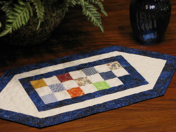 Quilted Candle Mat Table Topper Table Quilt by DollPatchworks, $24.00