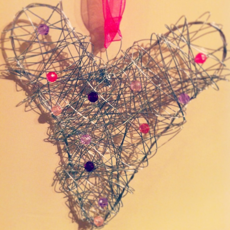 handmade wire heart