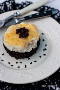 Черный рис с сальсой из морского языка | Вкусный и простой рецепт