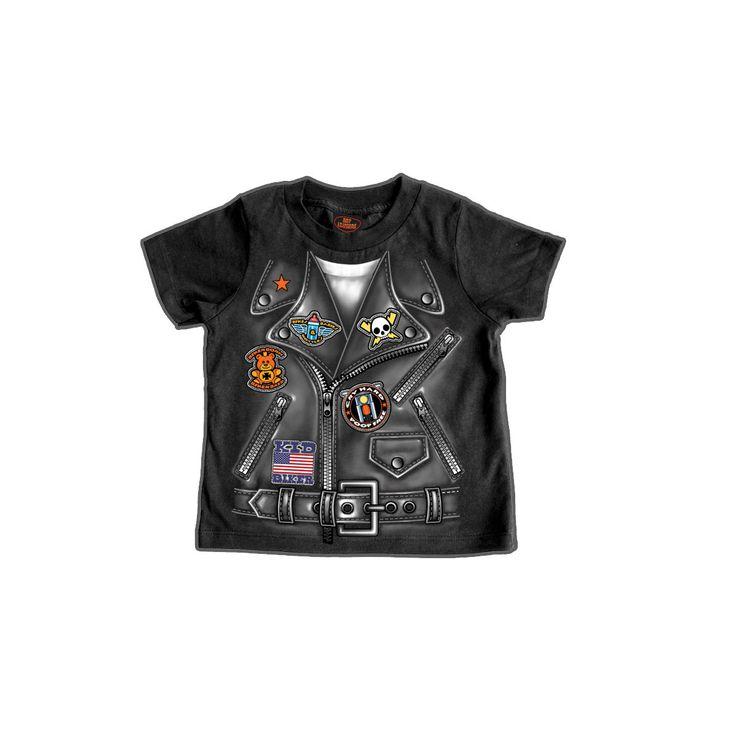 Boys Leather Jacket Toddler T-Shirt