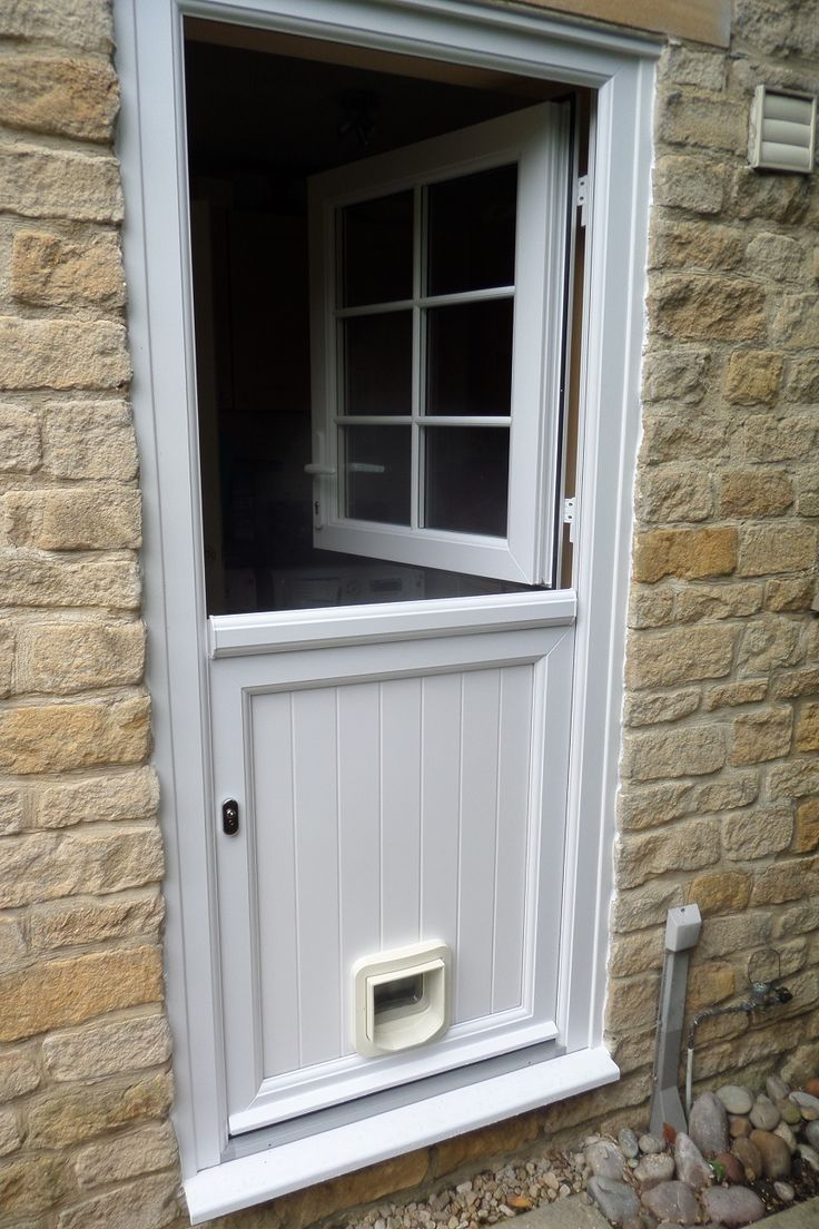 Upvc Stable Door Fitted With Cat Flap House Projects