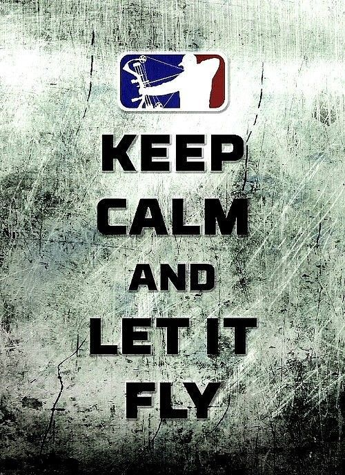 "3.25"" LET IT FLY Bow Hunting Sticker / Decal. Archery compound bow and arrow"