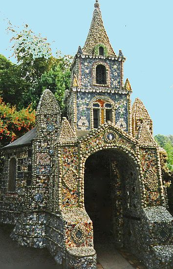 The Little Chapel made of shells, Guernsey, Channel Islands, UK