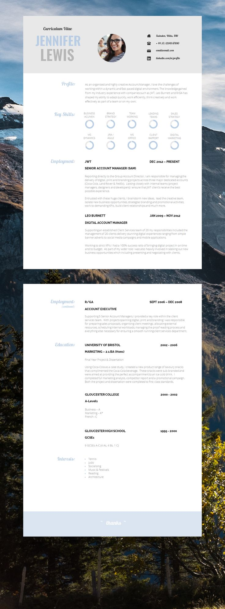 CV | Curriculum Vitae | Resume Template | CV Template | A simple yet sleek example of a perfect #JobHunting Tool! #AmazingCV