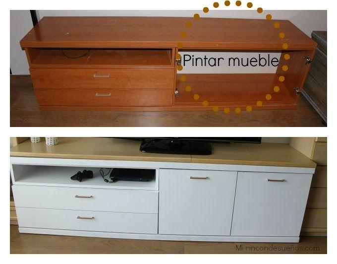 Pintar mueble antes despues pinterest for Como cambiar un mueble de color oscuro a blanco