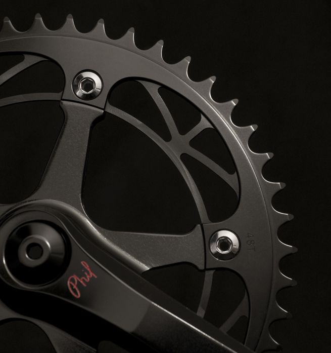 Phil Wood: Black Track Cranks in Stock - PROLLY IS NOT PROBABLY