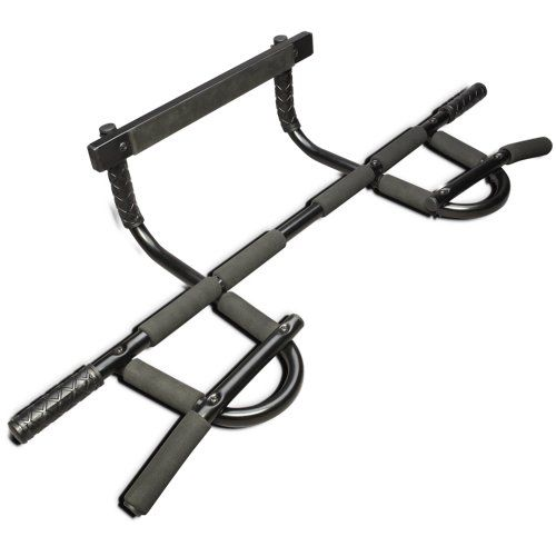 Pro-Grade Chin-up Bar for P90X and Asylum: Sturdy Heavy-Gauge Steel Frame & 12 Grip Positions Sturdy chin-up bar with heavy-gauge steel frame. Patented design offers 12 grip positions for diverse workouts. Strengthens and develops shoulders, arms, back, abs, and more. Professional-grade, foam-covered handles are easy on the hands. Supports up to 300 pounds; fits doorways up to 32 inches wide.  #Beachbody #Sports
