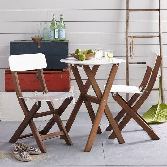 Style on a Budget: 10 Sources for Good, Cheap Outdoor Furniture & Accessories. Balcony Bistro Set from West Elm
