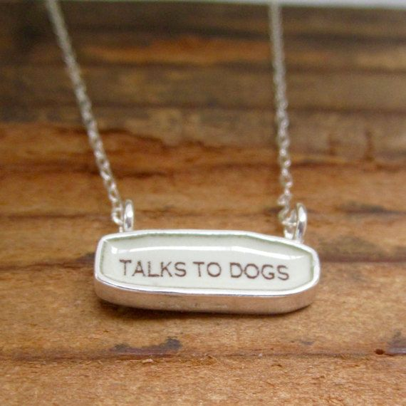 Talks to Dogs Necklace  Reversible Sterling Silver and by marmar