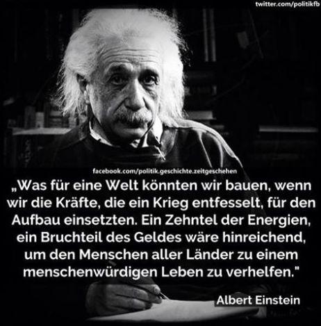 Investition, Kapitalismus, Humanität Albert Einstein