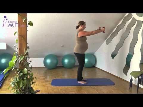 HappyBauch (11) – Komplette Kursstunde – Fitness für Schwangere – YouTube