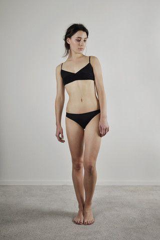 Scarlet Bikini Brief and Violet bra