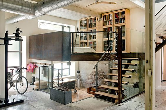 To end off loft madness week (this was totally unplanned) I wanted to share this former warehouse...: