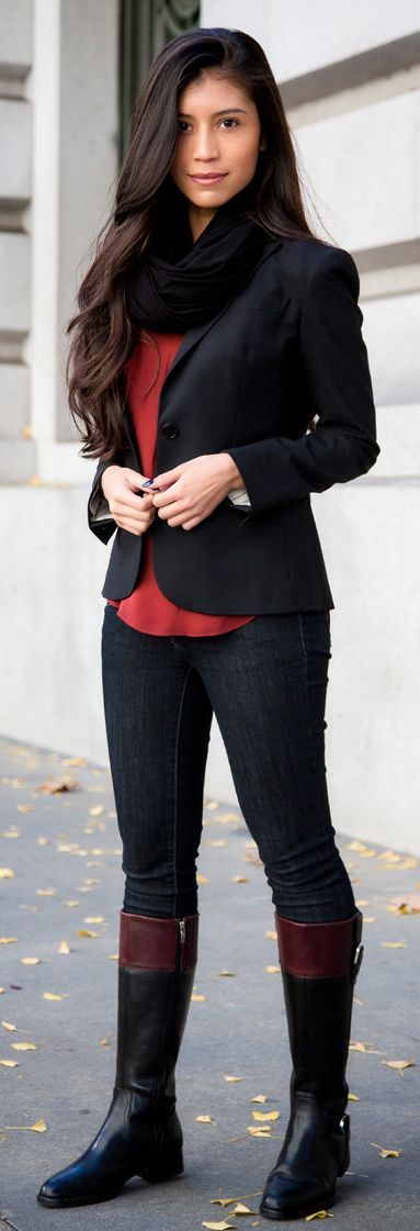 Fall Outfit Series – Casual Riding Boots Outfit by Stylishly Me