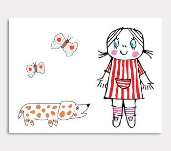 Lilla Anna, hund med prickar Tavla