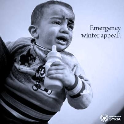 Will you send him a blanket? Just £10! Visit  www.humancaresyria.org