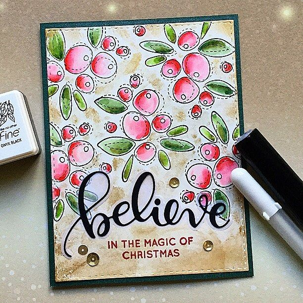 I used the beautiful #simonsaysstamp set Winter flowers and coloured it with my #zigcleancolor makers. Then added a ton of #nuvo golden mousse #thedailymarker30day #card #cardmaking #handmadecards #homemadecard #papercraft #papercrafts #christmascards #kaart #kaartje #kerstkaart #diecutting #simonsaysstampdies #zigcleancolorrealbrush #sssflickrchallenge