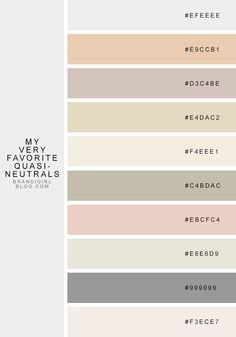 Gorgeous color palette with their HEX values that look good on almost any design or layout.