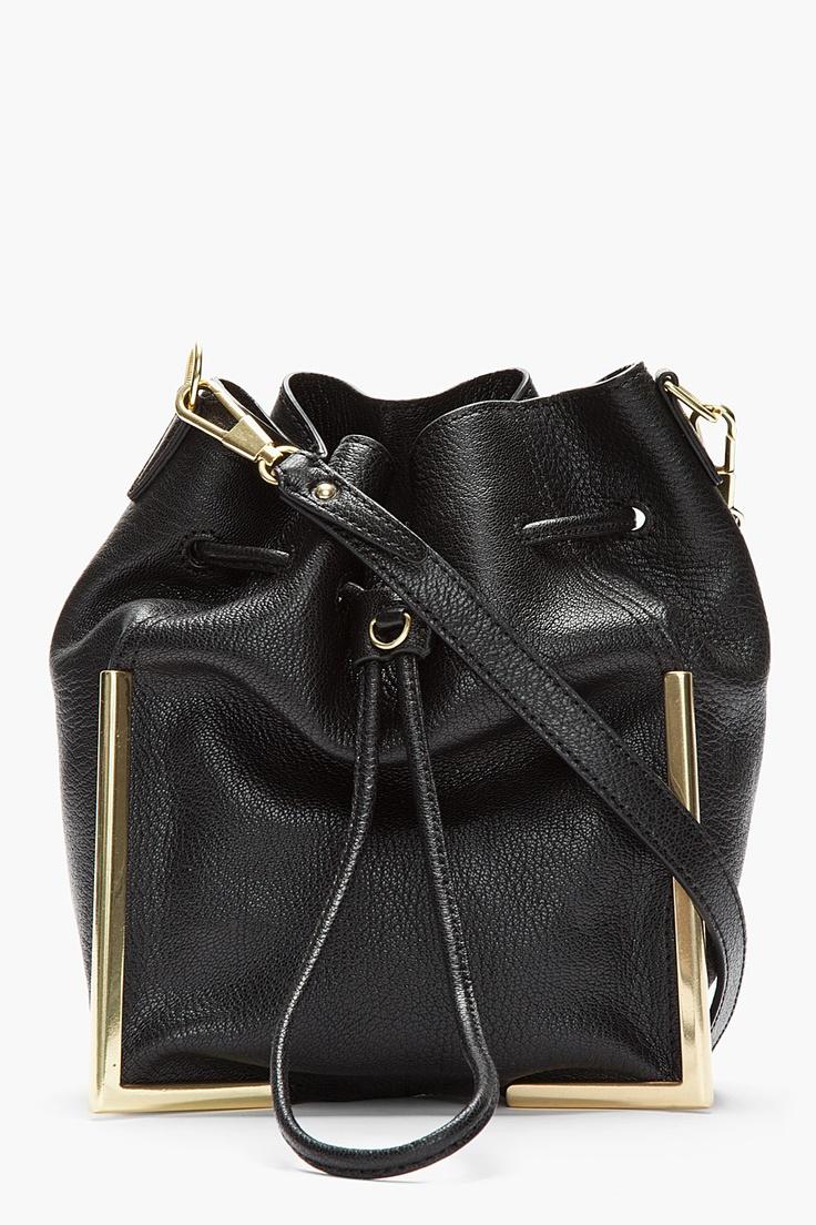 3.1 PHILLIP LIM Black Crossbody Lux Grain Goat leather Scout bag