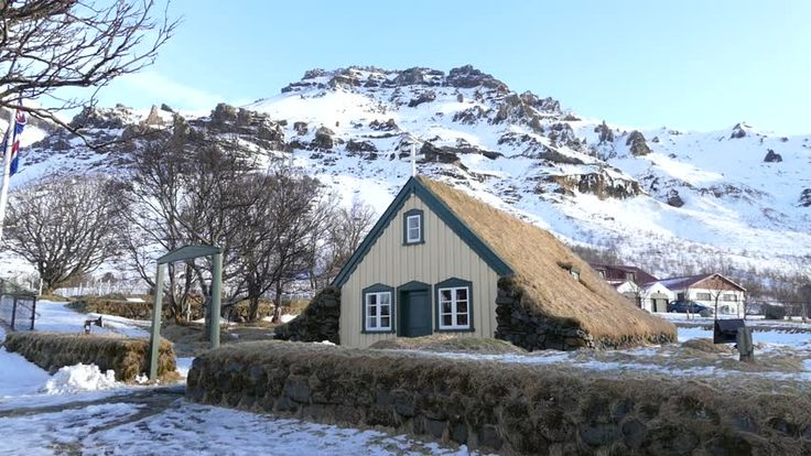 Hofskirkja is the last of the old churches to be built in this beautiful turf style!  #Hofskirkja #church #turf #iceland #travel #tour #winters #nature #vacation #photography #traveldiaries #bucketlist #explore