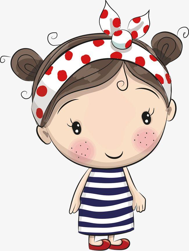 Vector Cute Cartoon Menina, Vector, Cartoon, Linda PNG e vetor para download gratuito