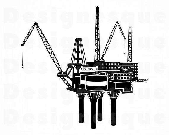 Oil Rig Svg Oil Well Svg Offshore Drilling Svg Oil Rig Etsy Oil Rig Oil Well Rigs